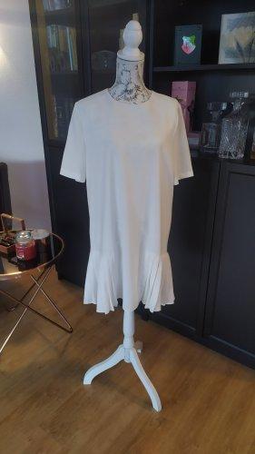 Zara Sukienka z baskinką biały