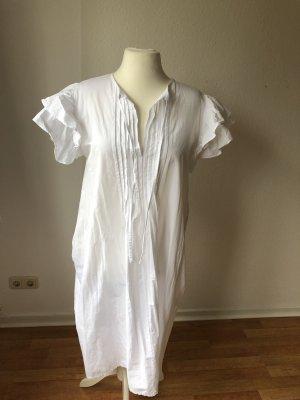 Zara Sukienka z falbanami biały
