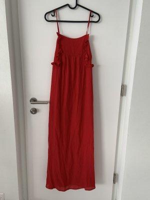 Zara Vestido Hippie rojo