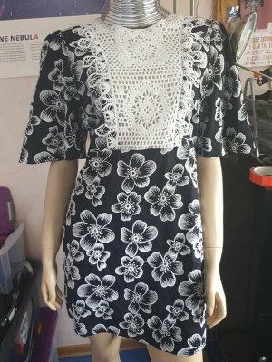 Zara Kleid neu sommerkleid minikleid blumenkleid