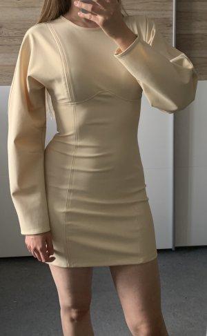 Zara Kleid Neu XS Nude Creme Beige