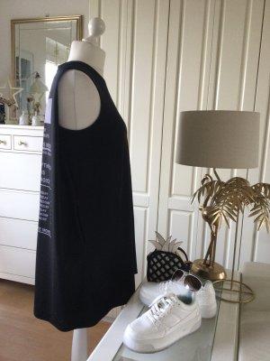Zara Kleid Oversize  schwarz weiß Schriftdruck  Gr. S