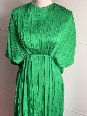 ZARA Kleid Plissee grün