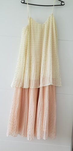 Zara Kleid plissée-Kleid mit Laméfäden Midikleid