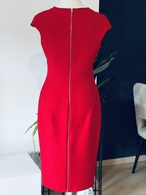 Zara kleid Reißverschluss sexy gr L rot blogger insta