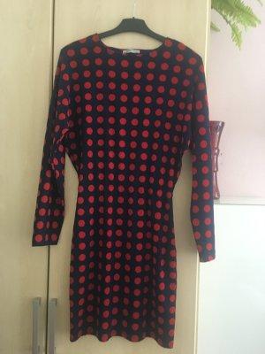 Zara Kleid rot blau gepunktet Gr. S