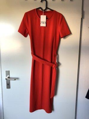 Zara Kleid rot long elegant NEU