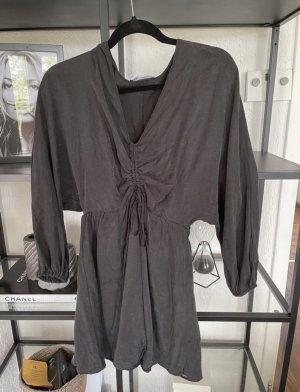 Zara Kleid rüschen grau neu