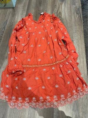 Zara Kleid Rüschen , orange Gr.S