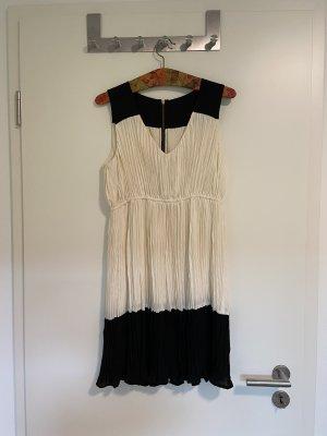 Zara Kleid schwarz/creme GrS