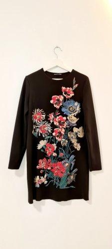 Zara/ Kleid/ Schwarz mit Glitzer Applikationen/ Größe M/ Zustand: Sehr gut
