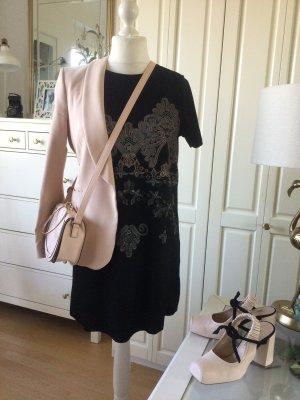 Zara Kleid schwarz Motivdruck mehrfarbig Gr. L