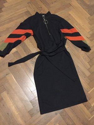 Zara Robe stretch noir tissu mixte