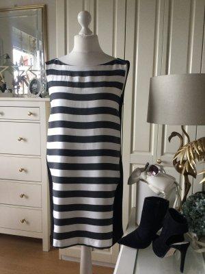 Zara Kleid schwarz weiß gestreift Uni Gr. L neu