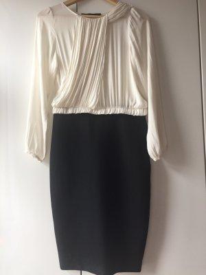 Zara Kleid Schwarz Weiß Gr. M Chic Klassisch Weiblich