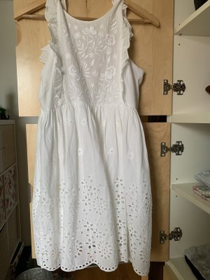 Zara Kleid Spitze Weiß