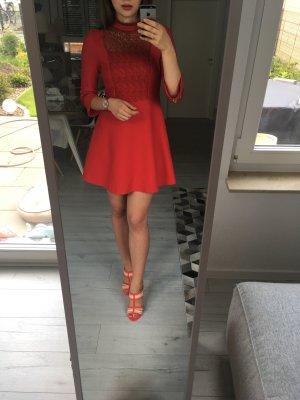 Zara Kleid tiefrot, S