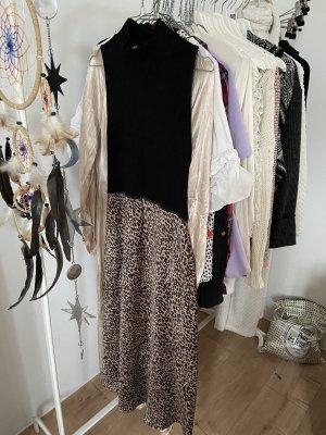 ZARA Kleid turtleneck schwarz leo S