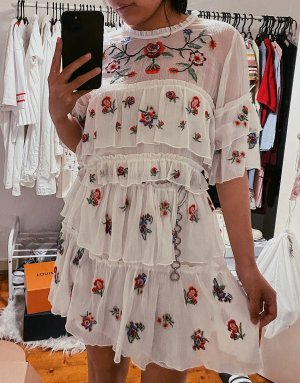 Zara Flounce Dress white