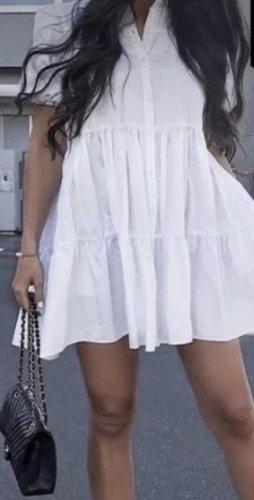 ZARA Kleid weiß gr xs s neu mit Etikett