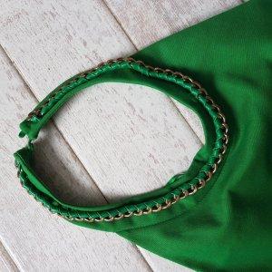 Zara Sukienka z dekoltem typu halter zielony