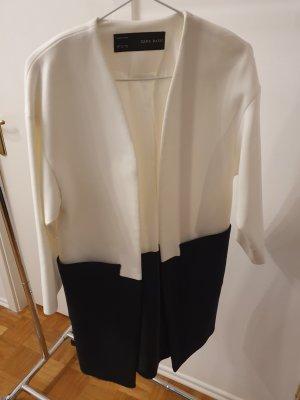 Zara Kleidermantel Blazer Mantel oversized blau weiß Gr.XS