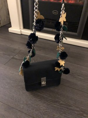 Zara Mini sac bleu pétrole-bleu foncé