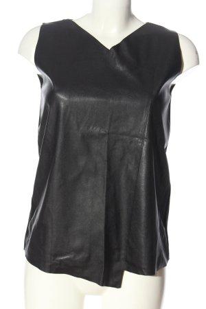 Zara Knit Haut évasé en bas noir style décontracté