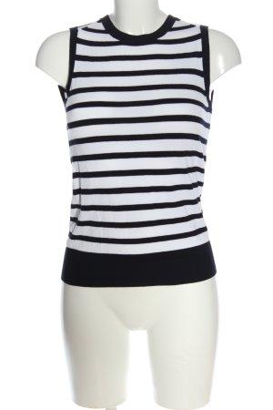 Zara Knit ärmellose Bluse weiß-schwarz Streifenmuster Casual-Look