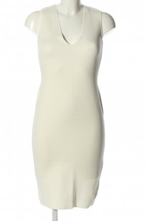 Zara Knit Ballonkleid weiß Casual-Look