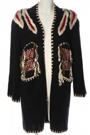 Zara Knit Cardigan grafisches Muster Casual-Look