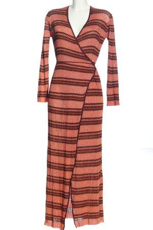 Zara Knit Kopertowa sukienka Graficzny wzór W stylu casual