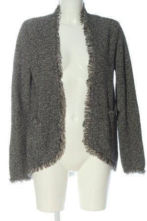 Zara Knit Cardigan hellgrau meliert Casual-Look