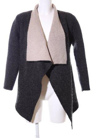 Zara Knit Cardigan schwarz-wollweiß Casual-Look