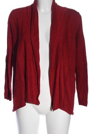 Zara Knit Cardigan rot Casual-Look