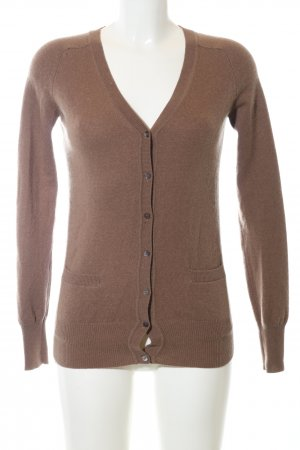 Zara Knit Cardigan bronzefarben Casual-Look