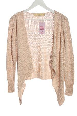 Zara Knit Cardigan creme Zopfmuster Casual-Look