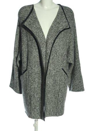 Zara Knit Cardigan hellgrau Allover-Druck Casual-Look