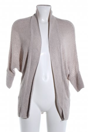 Zara Knit Cardigan hellgrau Casual-Look