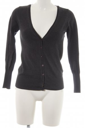 Zara Knit Cardigan anthrazit-dunkelgrau Casual-Look