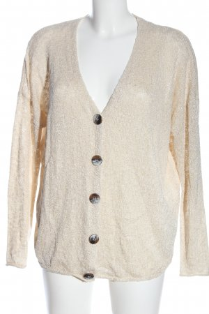 Zara Knit Cardigan creme Casual-Look