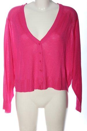 Zara Knit Cardigan pink Zopfmuster Casual-Look