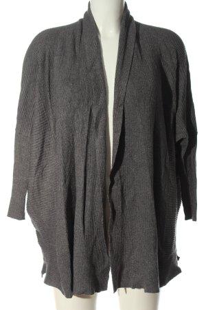 Zara Knit Cardigan hellgrau Streifenmuster Elegant