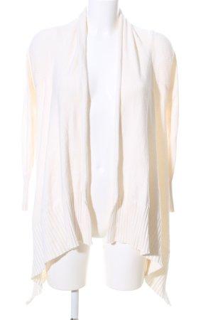 Zara Knit Cardigan wollweiß Casual-Look