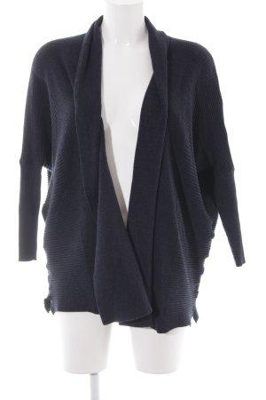 Zara Knit Cardigan dunkelblau Casual-Look