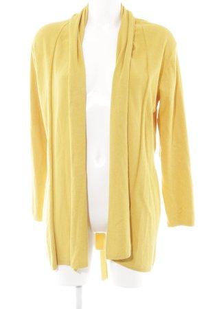 Zara Knit Cardigan dunkelgelb