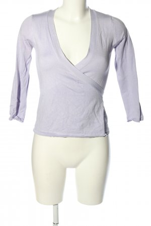 Zara Knit Wraparound Shirt lilac casual look