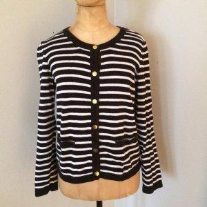 ZARA Knit Cardigan Gr. 38 schwarz/weiß