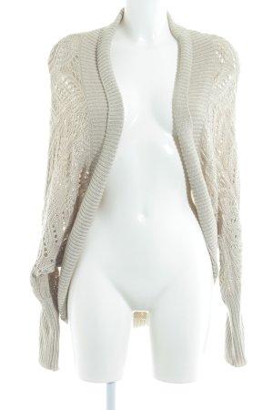 Zara Knit Cardigan hellbeige Casual-Look