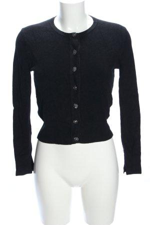 Zara Knit Cardigan schwarz Business-Look